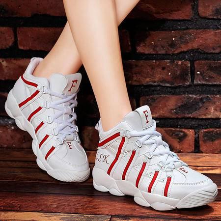 百年纪念新款运动鞋透气休闲鞋韩版女单鞋网面跑步鞋子时尚高帮鞋女鞋