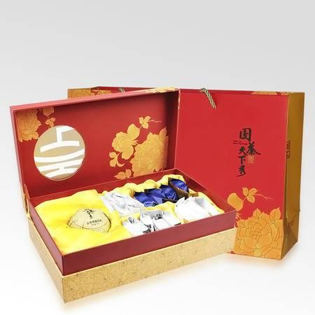 国茶天下秀 花好月圆五大名茶 特级茶叶组合装包邮224.5g