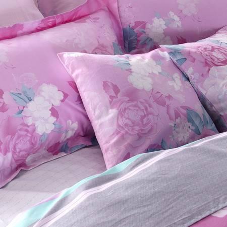 逸轩家纺 全棉休闲沙发靠垫 床头靠枕 纯棉抱枕头一个(含芯)