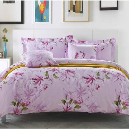 逸轩家纺床上用品100%纯棉斜纹印花六件套 多款选择