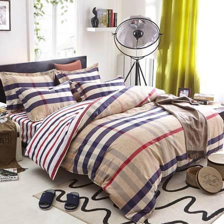 逸轩家纺 全棉双人斜纹印花四件套  1.5米/1.8米床用 被套200*230