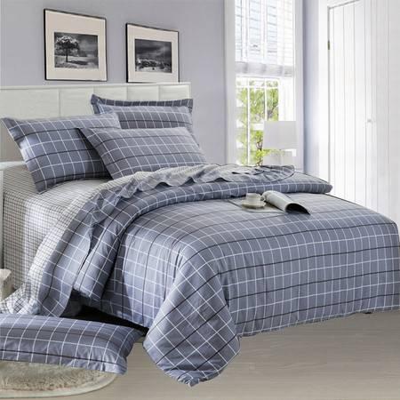 逸轩家纺 全棉斜纹床单款四件套 1.8米宽床用被套220*240