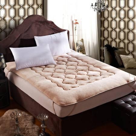 逸轩家纺 双人可折叠床褥 加厚保暖法莱绒床垫150*200CM