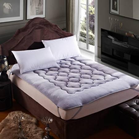 逸轩家纺 单双人可折叠学生宿舍床褥 加厚保暖法莱绒床垫