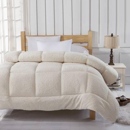 逸轩家纺 被子单双人加厚羊羔绒冬被芯150*200cm5斤