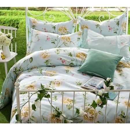 逸轩家纺  法式浪漫田园纯棉印花床单式四件套  1.5米/1.8米床通用