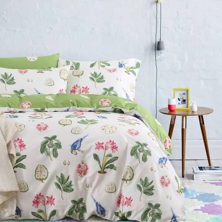 喜梵菲 SIVENFY 时尚全棉印花床单款四件套 被套200*230 适合1.5米/1.8米床用