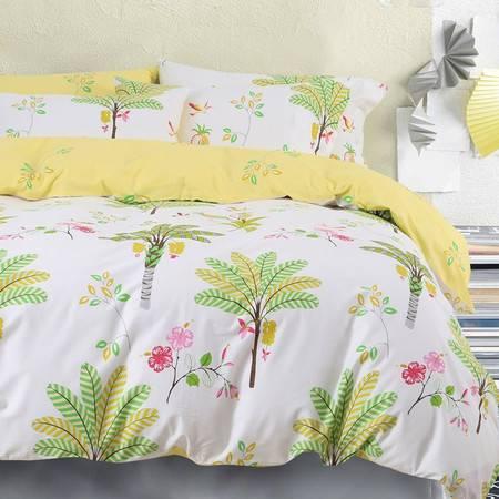 喜梵菲家纺  时尚全棉床单款四件套被套200*230  适合1.5米/1.8米床用