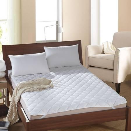 逸轩家纺 素色绗缝夹棉床垫宾馆席梦思保护垫100*200