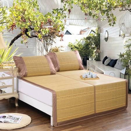 逸轩家纺 宫廷碳化玉竹双面二用凉席1.5米床用(不包括枕套)