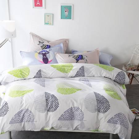 逸轩家纺纯棉四件套 全棉北欧居家1.5/1.8m床被套床单床上用品简约四件套