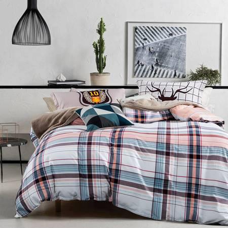 逸轩家纺 全棉北欧简约床品 纯棉床单四件套1.5米/1.8米床通用