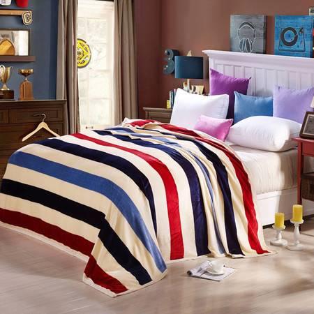 逸轩家纺 法兰绒毯子保暖床单 200*230CM 多款颜色