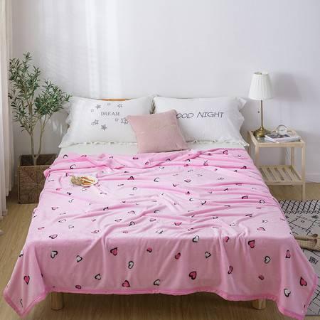 逸轩家纺  加厚毛绒保暖床单夏季空调毯子 法兰绒毯 200*230CM