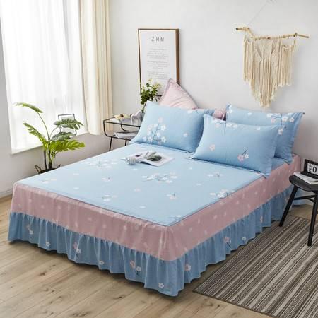 逸轩家纺 纯棉床罩防滑席梦思保护套全棉斜纹单件床裙