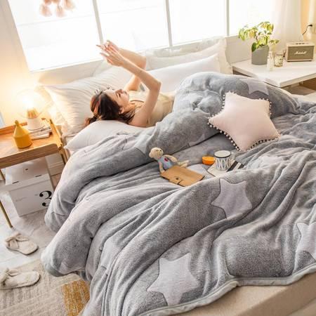 逸轩家纺 四季毯子法兰绒保暖床单舒柔亲肤毯120*200cm