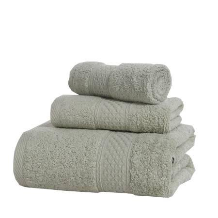 逸轩 全棉极简风尚套巾组合方巾一条 毛巾一条浴巾一条