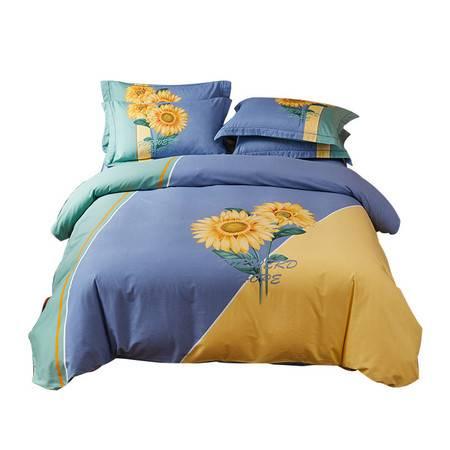 逸轩家纺  全棉加厚磨毛保暖床单四件套 1.5米/1.8米床适用