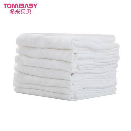 多米贝贝口水巾 喂奶巾 竹纤维纱布汗巾多功能6条装