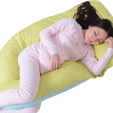 多米贝贝 多功能孕妇枕头套[孕妇枕套]可拆洗护腰枕侧睡枕套用品