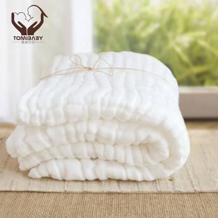 多米贝贝婴儿纱布浴巾12层宝宝医用级纯棉超柔浴巾1条+同款毛巾3条