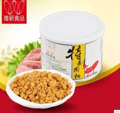 唯新 135g*3罐装美味特制营养肉松/肉酥 健康休闲食品