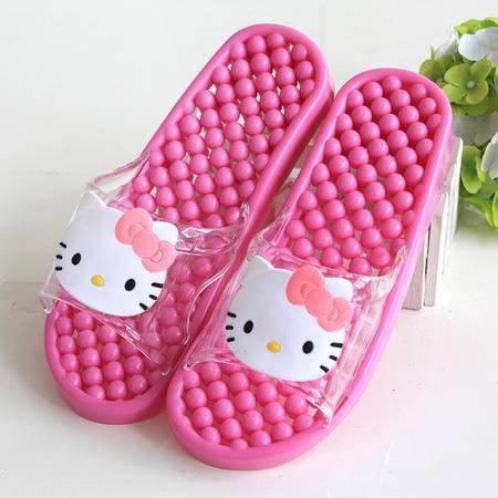 韩版浴室情侣hello kitty卡通按摩拖鞋防滑漏水拖鞋