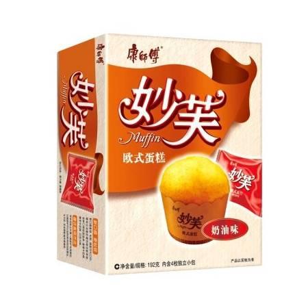 康师傅妙芙欧式蛋糕奶油味 192g*2  (8枚独立小包)