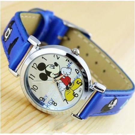 迪士尼卡通手表 米奇mickey儿童手表 皮带小孩手表