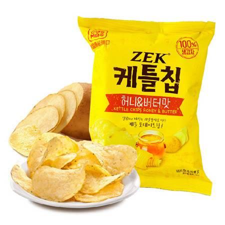 韩国进口 ZEK蜂蜜黄油马铃薯片土豆片60g/袋*2袋