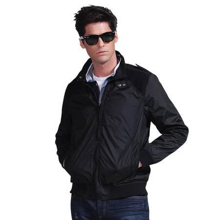 Lesmart莱斯玛特 男士秋季新款男装外套商务休闲罗纹下摆男装夹克 JL13621
