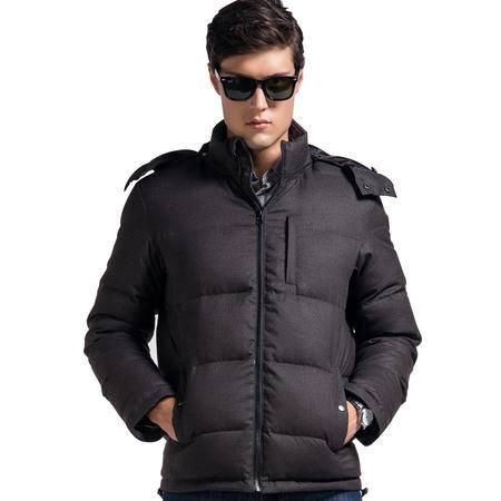 Lesmart莱斯玛特 男士冬装男士加厚羽绒服 抗寒保暖 时尚纯色仿毛面料羽绒服外套EW13578