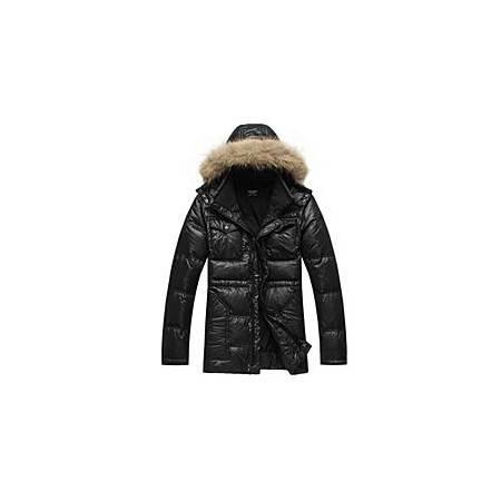 Lesmart莱斯玛特 男士新款貉子毛领羽绒服男中长款加厚保暖羽绒服可脱卸帽外套MDME10424