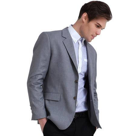 Lesmart莱斯玛特 男士新款时尚儒雅绅士商务休闲西服男士西装上衣FX13025