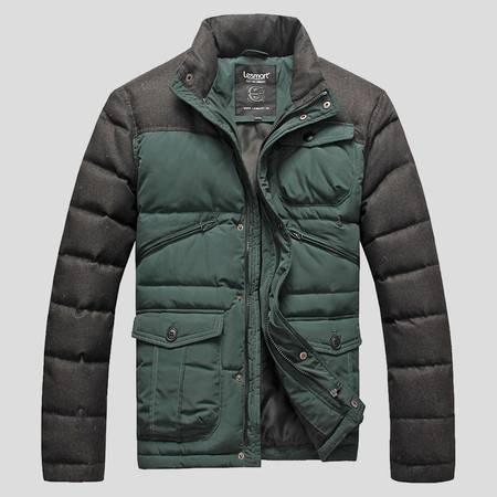 Lesmart莱斯玛特 男士新款冬装男士棉服 韩版立领时尚都市棉袄男棉衣潮薄款PW14086