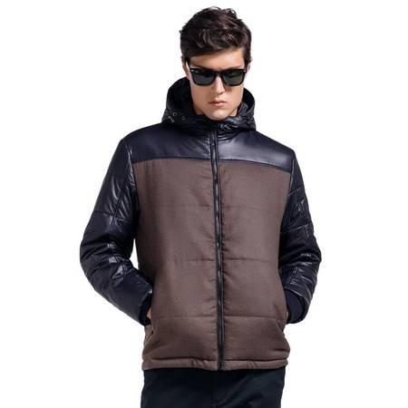 Lesmart莱斯玛特 男士冬装新款男士拼接棉服 潮男时尚连帽防风棉衣保暖男装外套PX13176
