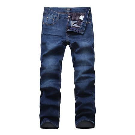 lesmart 莱斯玛特新款男士直筒小脚牛仔裤 水洗男士牛仔裤 LL15134