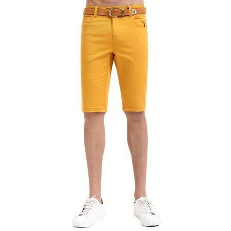 lesmart莱斯玛特 男士休闲糖果色短裤 男士五分修身短裤 男士短裤潮牌男士LKS16114