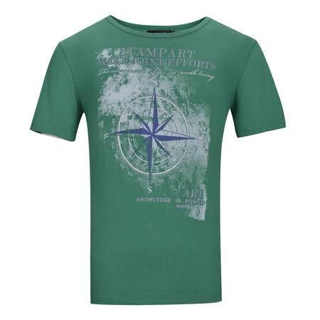Lesmart 莱斯玛特 夏季男士纯棉短袖t恤 男士印花男短袖t恤衫 TW15049