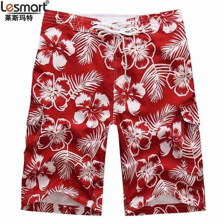 LESMART莱斯玛特男装印花带内衬沙滩短裤MDSK3212