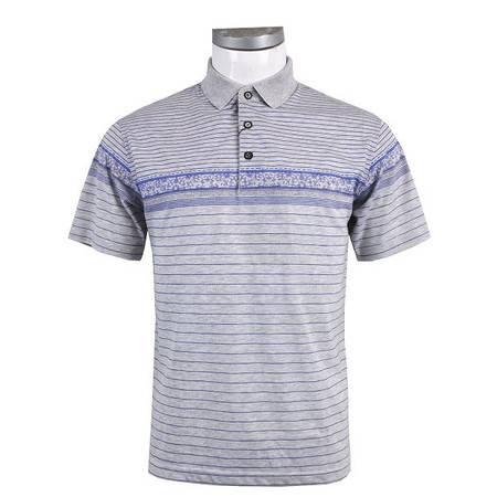 萨托尼 sartore 男士 商务 特价 休闲 短袖T恤 灰紫 12252179