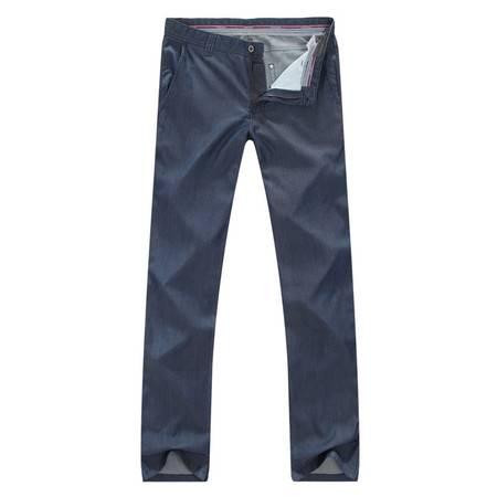 萨托尼专柜正品深蓝纯色修身款直桶牛仔裤09216116