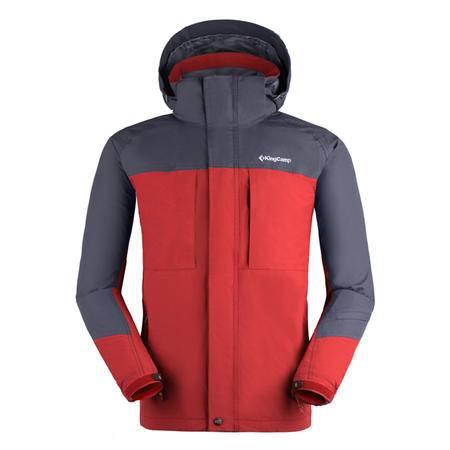 KingCamp/康尔 男款户外旅行防风透气保暖两层压胶冲锋衣KW9601