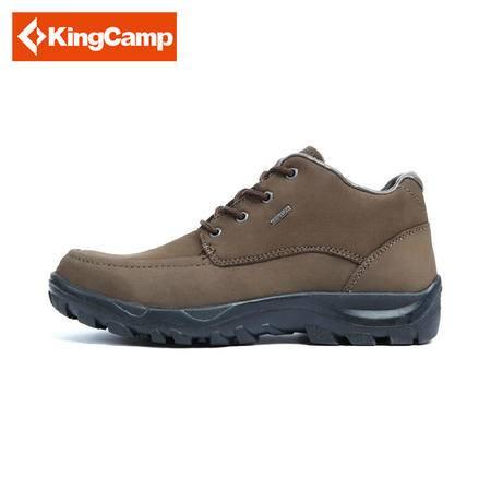 KingCamp/康尔户外登山防滑透气中帮头层黄牛皮男款登山鞋包邮 KF8061