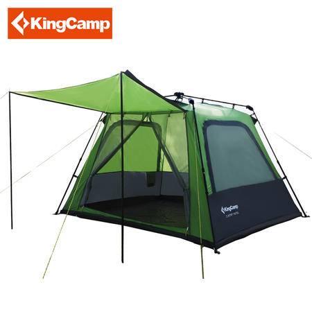 KingCamp/康尔户外露营多人速搭四方顶防暴雨自驾游帐篷 KT3096