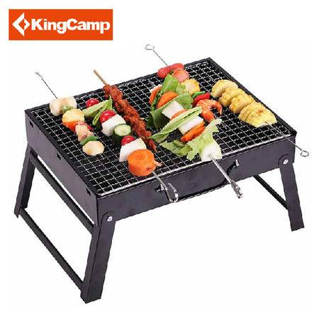KingCamp/康尔户外野餐烧烤炉 便携折叠加厚木炭碳烧烤架 KG3754