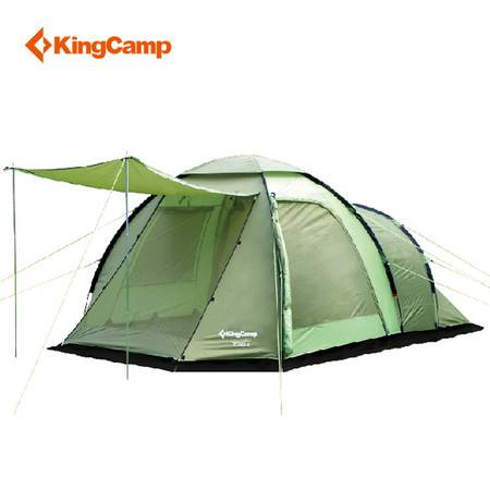 KingCamp康尔户外露营防风防水3-4人双层四季帐篷 KT3069