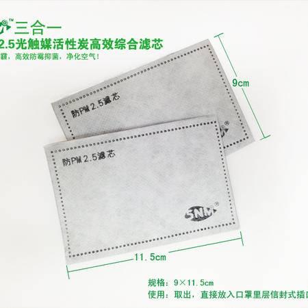 5NM  三合一防PM2.5光触媒活性炭高效综合滤芯滤片(不含口罩)