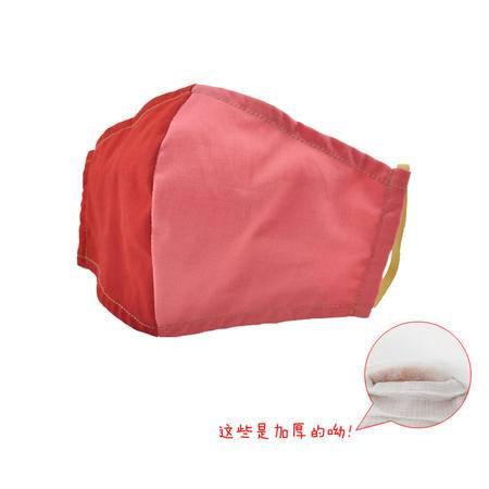5NM 抗菌防PM2.5防霾口罩-时尚假面撞色系列均码 加厚型