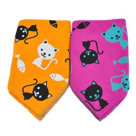 雅漾 童趣系列之小猫钓鱼纱布毛巾二入